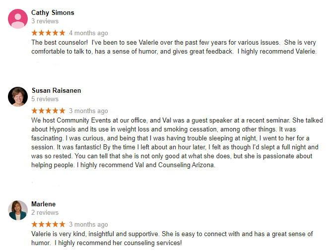 Counseling AZ Reviews Google 1