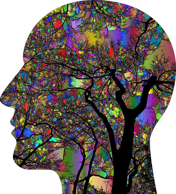 colorful graphic image of brain with colorful spots